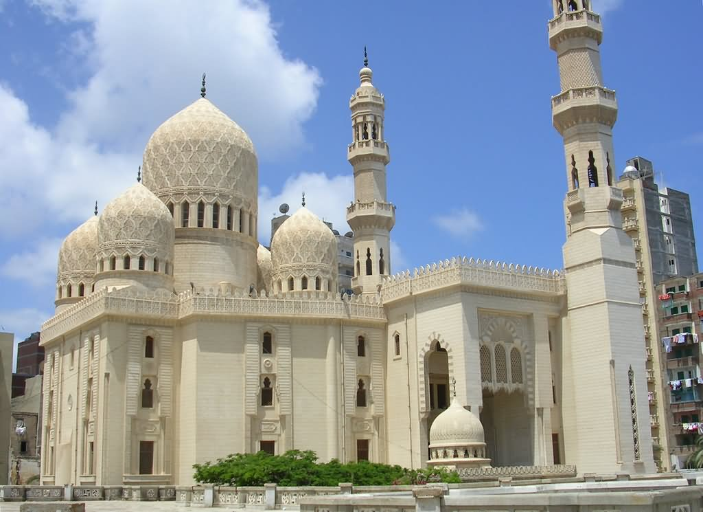 Side View Of The El Mursi Abul Abbas Mosque Egypt