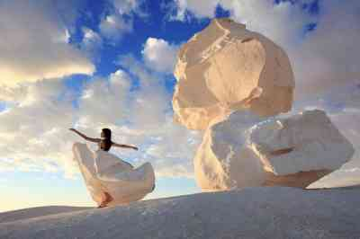 White Desert And Bahariya
