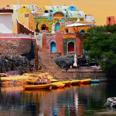Aswan Colorful Houses